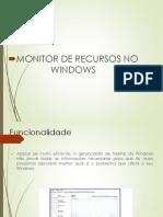 Monitor de Recursos do Windows