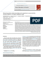 Nurse Education in Practice Volume Issue 2015 [Doi 10.1016_j.nepr.2015.08.006] Bressan, Valentina; Stevanin, Simone; Bulfone, Giampiera; Zanini -- Measuring Patient Safety Knowledge and Competences