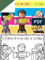Libro Colorea Encuentra y Escribe