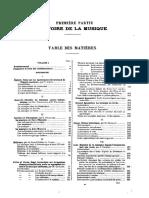 Encyclopédie de la musique et dictionnaire du conservatoire (Lavignac, 1913–31) - 1. Histoire de La Musique - Table