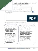 Guia de Aprendizaje Lenguaje 3BASICO Semana 16 2015