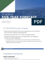 Santa Barbara County Fiscal Year 2018-23 Forecast