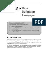 Topic2 Data Definition Language