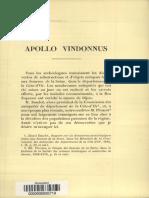 """Thédenat L'Abbé Henry 1888 """"Apollo Vindonnus"""" - Mem. de La Soc. Antiq. de France 207-19"""