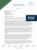Senator Wyden letter to Jeff Sessions