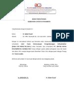 Contoh Surat Tugas Personil