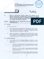 2010 Guidelines on Acquisition and Rental of Motor Vehicles