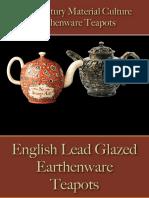 Drinking - Beverages - Tea Pots Earthenware