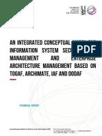 An Integrated Conceptual Model for Information System Security Risk Management and Enterprise Architecture Management Based on TOGAF, ArchiMate, IAF and DoDAF