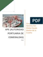 Autoridad Portuaria de Esmeraldas%2c Ger. G%2c Maitte. S%2c Zavala. M.