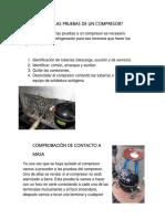 Cómo Hacer Las Pruebas de Un Compresor