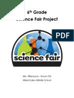 6th grade science fair packet