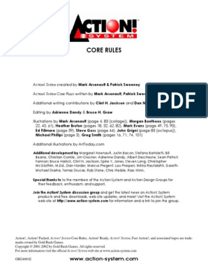 Action! System Core Rules pdf | Role Playing Games