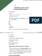 Plural English s z Iz