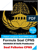 Rahasia Sukses Psikotes CPNS
