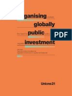 Organising Workers Globally, the Need for Public Policy to Regulate Investment