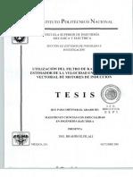 Utilizacion Del Filtro de Kalman Como Estimador de La Velocidad en El Control Vectorial de Motores de Induccion