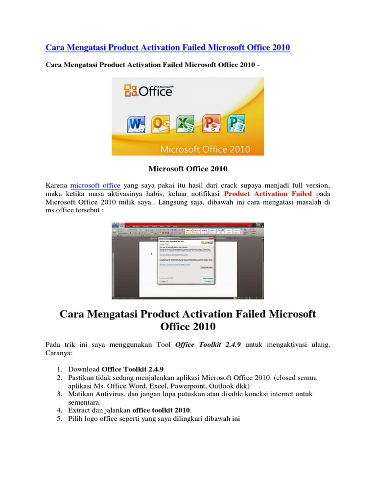 cara download microsoft office 2010