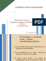 La industria periodística ante la convergencia - Seminario Industrias Culturales en México