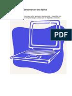 Ensamble y Desensamble de Una Laptop