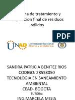 Sistema de Tratamiento y Disposicion Final de Residuos