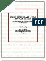 Serum Indicators of Oxidative Stress