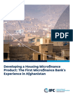 Developing a Housing Microfinance Product- The First Microfinance Banks Experience in Afghanistan