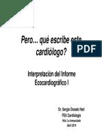 Interpretación de Informe Ecocardiográfico