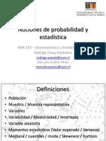 1. Nociones de Probabilidades y Estadística