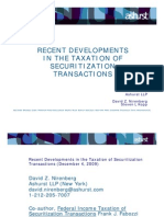 PPT Tax Developments in Securitization