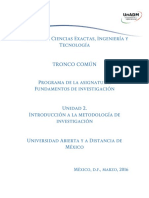 Unidad 2 Introduccion a La Metodologia de Investigacion