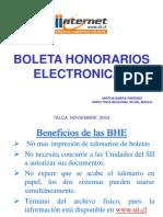 boleta honorarios electronicas