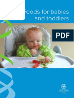 Foods for Babies and Toddlers A5 2016