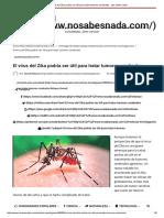 El Virus Del Zika Podría Ser Útil Para Tratar Tumores Cerebrales - ¡No Sabes Nada!