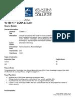 WCTC 150-177 Course Design