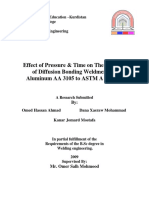 Effect of Pressure & Time on the Strength of Diffusion Bonding Weldments of Aluminum AA 3105 to ASTM a 285 GC (1) OMED HASSAN