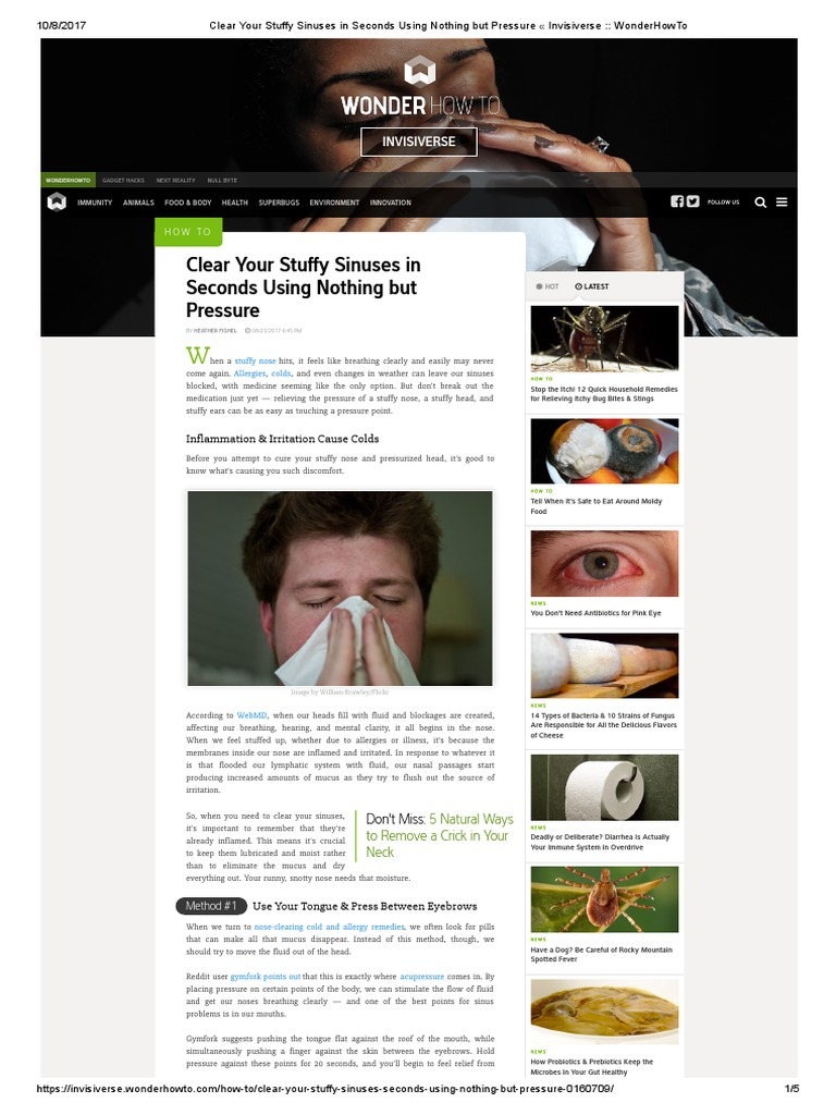 Sinuses in Seconds Using Nothing but Pressure « Invisiverse