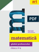 ART Matematica Cls5 Ghidul Profesorului
