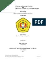 SOFIE - Peran Internal Auditor Sebagai Watchdog, Konsultan Dan Katalis