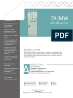 DUMW 4850H Outdoor Power System Datasheet