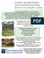 Florida Master Naturalist Program Uplands Program 2009