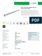Barra Lineal LED TREND Dimmer Touch 16W, 120cm