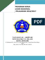 Program Kerja UN MTS 2017