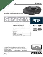 Philips AZ 1837 Service Manual Philips