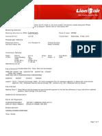 Lion Air ETicket (NFFRXD) - Sari