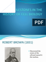 Milestones in the History of Cell Biology