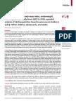 Obésité, rapport de l'OMS / The Lancet