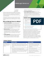 Vmware Vsphere Weblogicat a Glance
