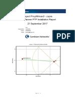 Reportes de instalación de radioenlace punto a punto (PTP)