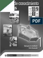 Guía Para El Estudiante, Ciclo Avanzado 1. Campo de Conocimiento Ciencias